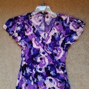 Chaps Dresses - Nice Chaps Faux Wrap Rouched Dress